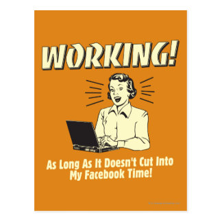 Working Cut into Facebook Time Postcard