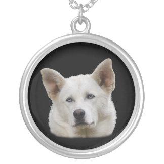 Working Dog Round Pendant Necklace