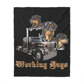 Working Dogs Fleece Blanket