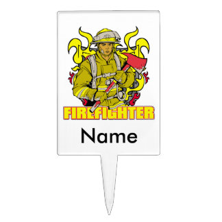 Working Firefighter Cake Topper