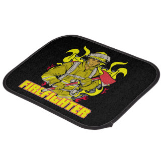 Working Firefighter Car Floor Mat