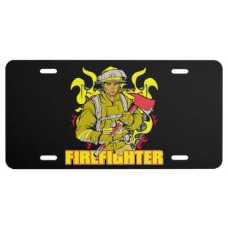 Working Firefighter License Plate