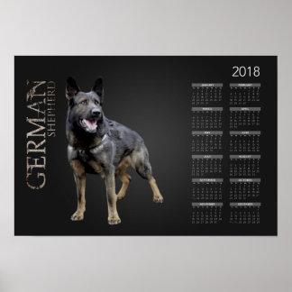 Working German Shepherd Dog  - GSD Calendar 2018 Poster