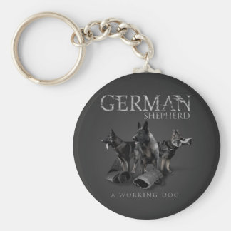 Working German Shepherd Dog  - GSD Keychain