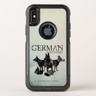 Working German Shepherd Dog  - GSD OtterBox Commuter iPhone X Case