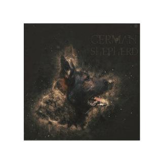 Working German Shepherd Dog  - GSD Wood Print