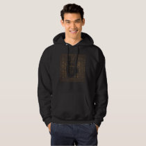Working German Shepherd Dog  - GSD Word Pattern Hoodie