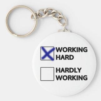 Working Hard Keychain