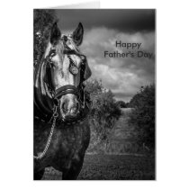 Working Horse Father's Day Card