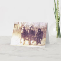 Working Horses, Father's Day Card