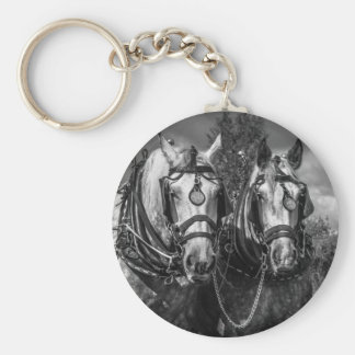 Working Horses Keychain/Key Ring Keychain