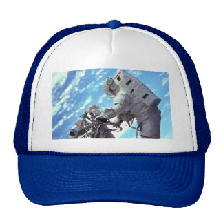 Working In Space - Incredible Earth View Trucker Hat