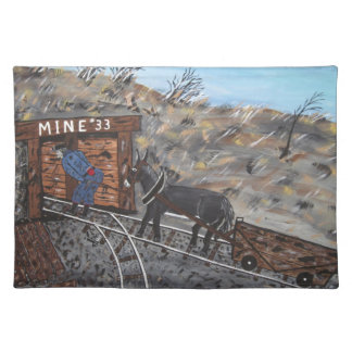 Working In The Coalmine Placemat
