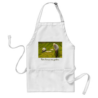 Working in the tea gardens adult apron