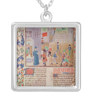 Working in the Vineyard Silver Plated Necklace