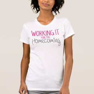WORKING IT FOR THE HOMECOMING NAVY   WORK OUT TOP SHIRTS