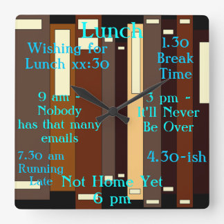 Working Job Work Employees Workers Time Square Wall Clock