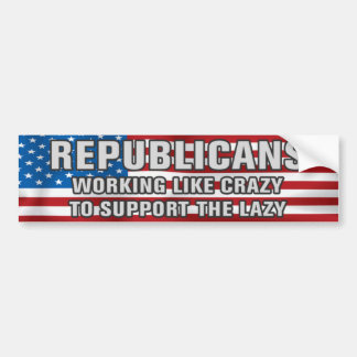 Working Like Crazy Bumper Sticker