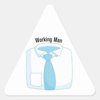 Working Man Triangle Sticker
