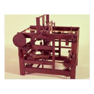 Working model of a loom postcard