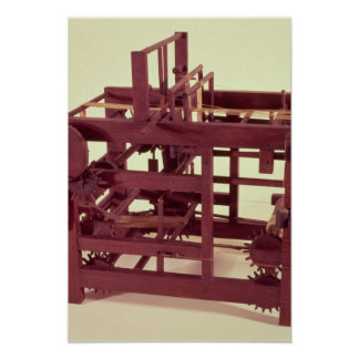 Working model of a loom poster