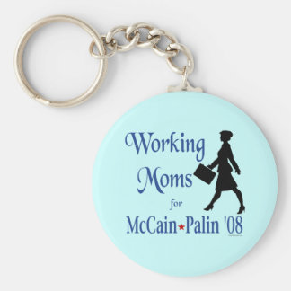Working Moms for McCain Palin Keychain