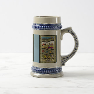 Working on an African farm Beer Stein