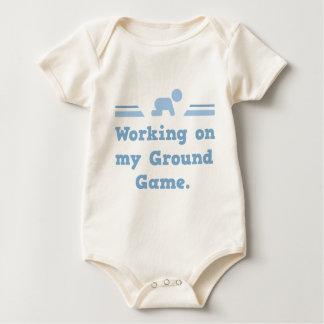 Working On My Ground Game Baby Bodysuit