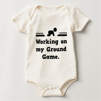 Working On My Ground Game Baby Bodysuit