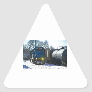 Working On The Railroad Triangle Sticker