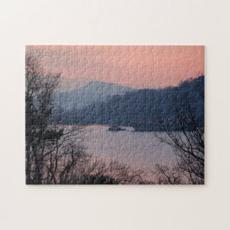Working On the River At Sunset Jigsaw Puzzle
