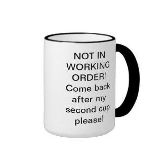 WORKING ORDER RINGER COFFEE MUG
