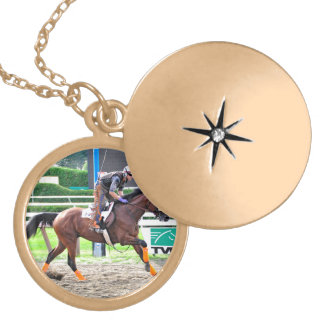 Working Out in Style at Saratoga Gold Plated Necklace