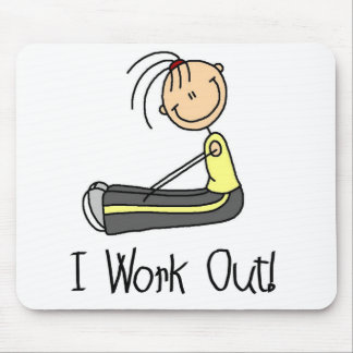 Working Out Stick Figure Mousepad
