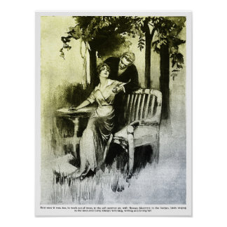 Working Outdoors - 1915 Print