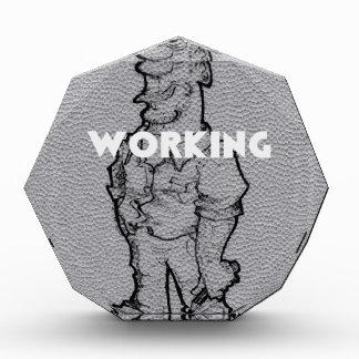Working Overtime Acrylic Award