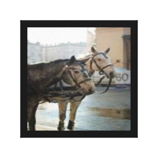 Working pair of horses canvas print