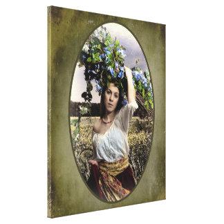 Working Peasant Girl - Canvas Print 20 x 24