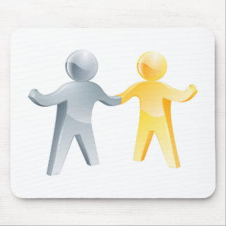 Working together concept mousemat