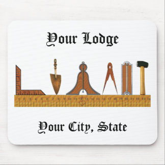 Working Tools of the Freemason Mouse Pad