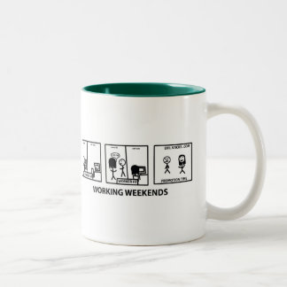 Working Weekends Two-Tone Coffee Mug