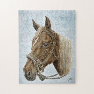 Working Western Horse Jigsaw Puzzle
