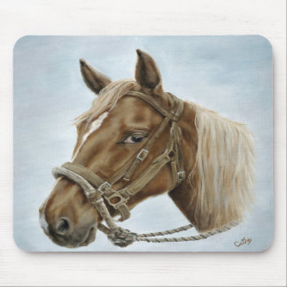 Working Western Horse Mousepad