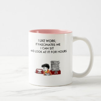Working Woman Two-Tone Coffee Mug