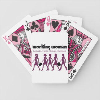 Working Women Bicycle Playing Cards