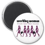 Working Women Refrigerator Magnet