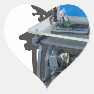 WorkingHardToolsTechnology052714.png Pegatina En Forma De Corazón