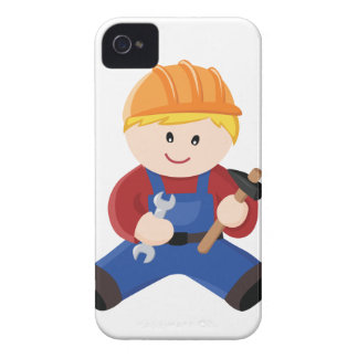 Workman construction blond hair iPhone 4 cover