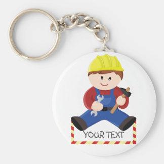 Workman for children basic round button keychain