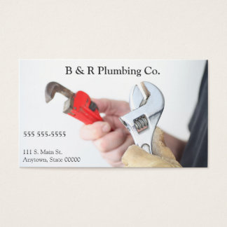 Workman with wrenches business card